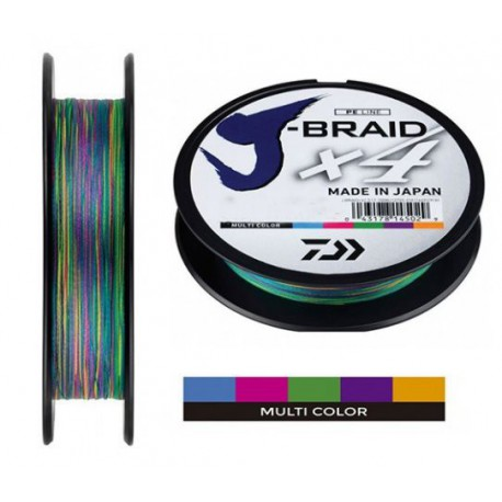 J BRAID X 4 MULTICOLOR 300 MTS.
